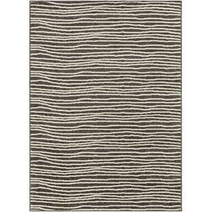 Compare prices Escolta Modern Striped Brown/White Area Rug ByOrren Ellis