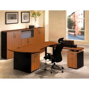Executive Management 6 Piece L-Shaped Desk Office Suite by OfisELITE