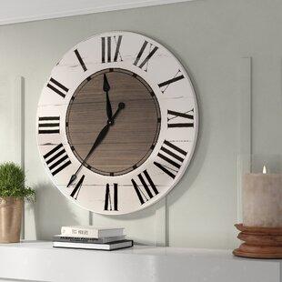 Medium Wood White Oversized Wall Clocks You Ll Love In 2021 Wayfair