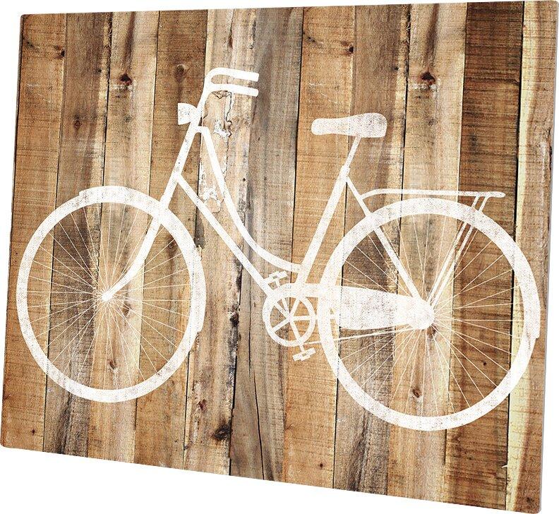 Click Wall Art \'Bicycle Wood\' Wall Art & Reviews | Wayfair
