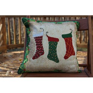 Hang My Stockings by the Fireplace Cushion Cover (Set of 2)