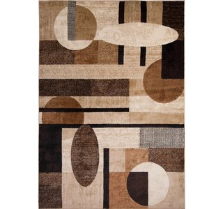 Nolan Patterned Brown/Tan Area Rug