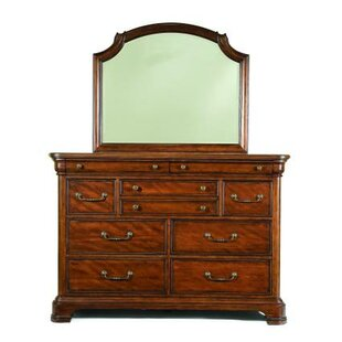 Edith 9 Drawer Dresser with Mirror