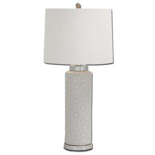 Scallop Design Tall 31 Table Lamp
