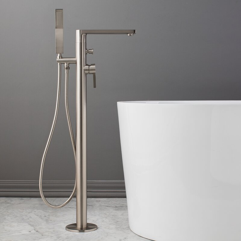 Friedrich Single Handle Floor Mounted Freestanding Tub Filler with ...