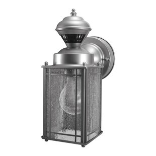 Purchase Goettingen Coach Metal Outdoor Wall Lantern with Motion Sensor By World Menagerie