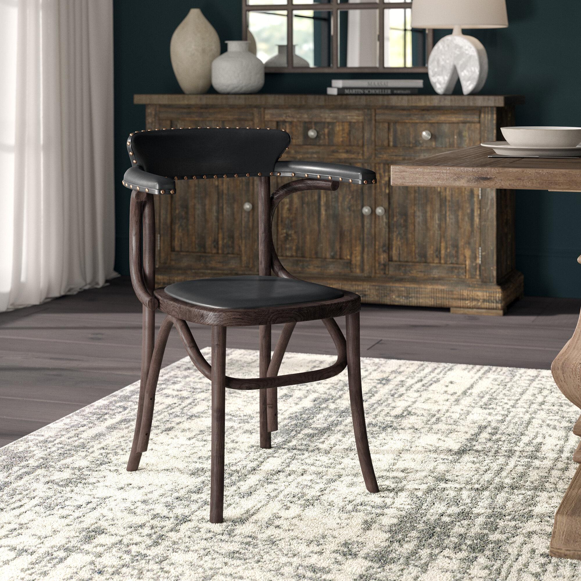 Wood Arm Side Chair Wayfair