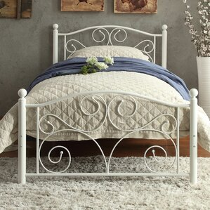 distressed finish beds you'll love | wayfair
