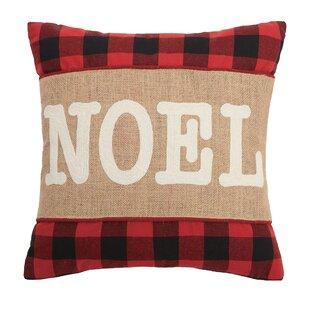 Milton Noel Burlap Cotton Throw Pillow