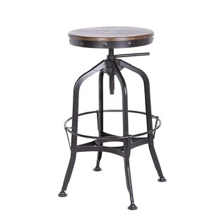 Swartz Metal Adjustable Height Swivel Bar Stool