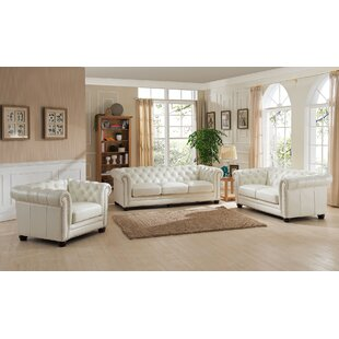 Affordable Price Crissyfield 3 Piece Leather Living Room Set by Rosdorf Park Reviews (2019) & Buyer's Guide