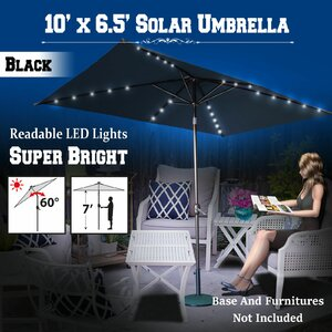 Finn 10' X 6.5' Rectangular Lighted Umbrella