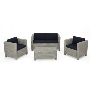 Bashir 4 Piece Sofa Set with Cushions