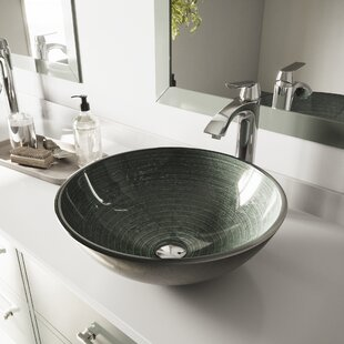 Comparison Glass Circular Vessel Bathroom Sink By VIGO