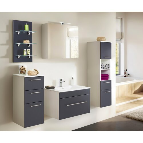 Viva 5-Piece Bathroom Furniture Set Belfry Bathroom Furniture Finish: Anthracite/White