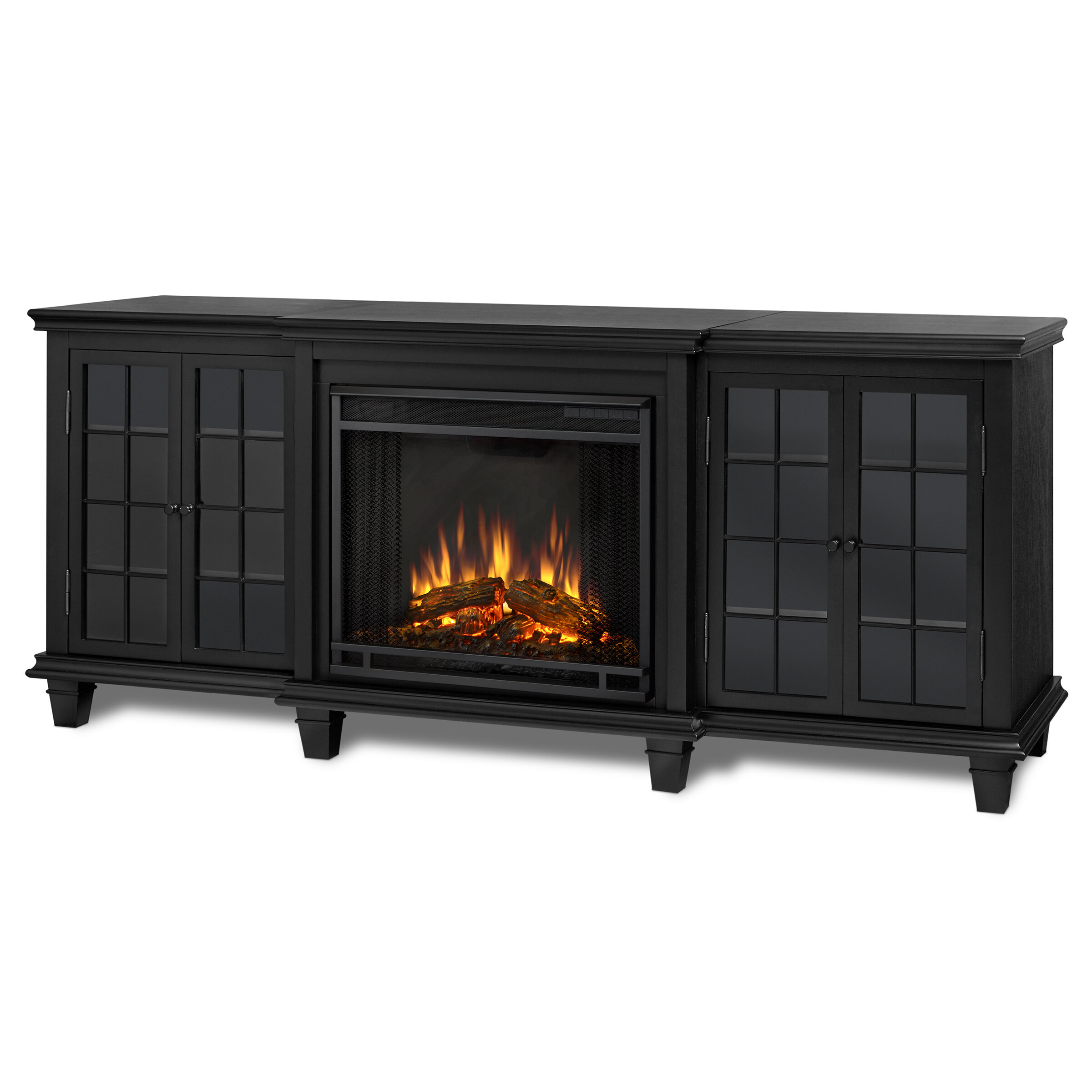 control in mount cambridge black furniture with metropolitan rocks fireplace electric view home patio outdoor remote wall quick d fireplaces crystal