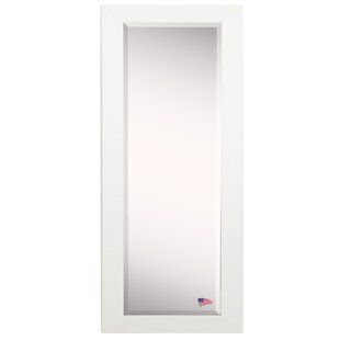 Bon Maci White Satin Full Length Beveled Body Mirror