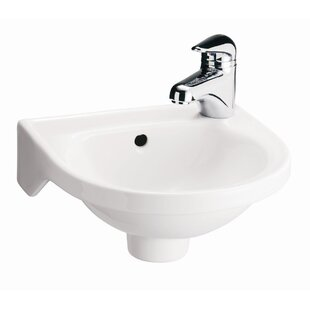 Compare prices Rosanna Vitreous China 11.88 Wall Mount Bathroom Sink with Overflow By Barclay