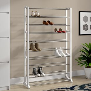 Inexpensive 50 Pair Shoe Rack By Rebrilliant