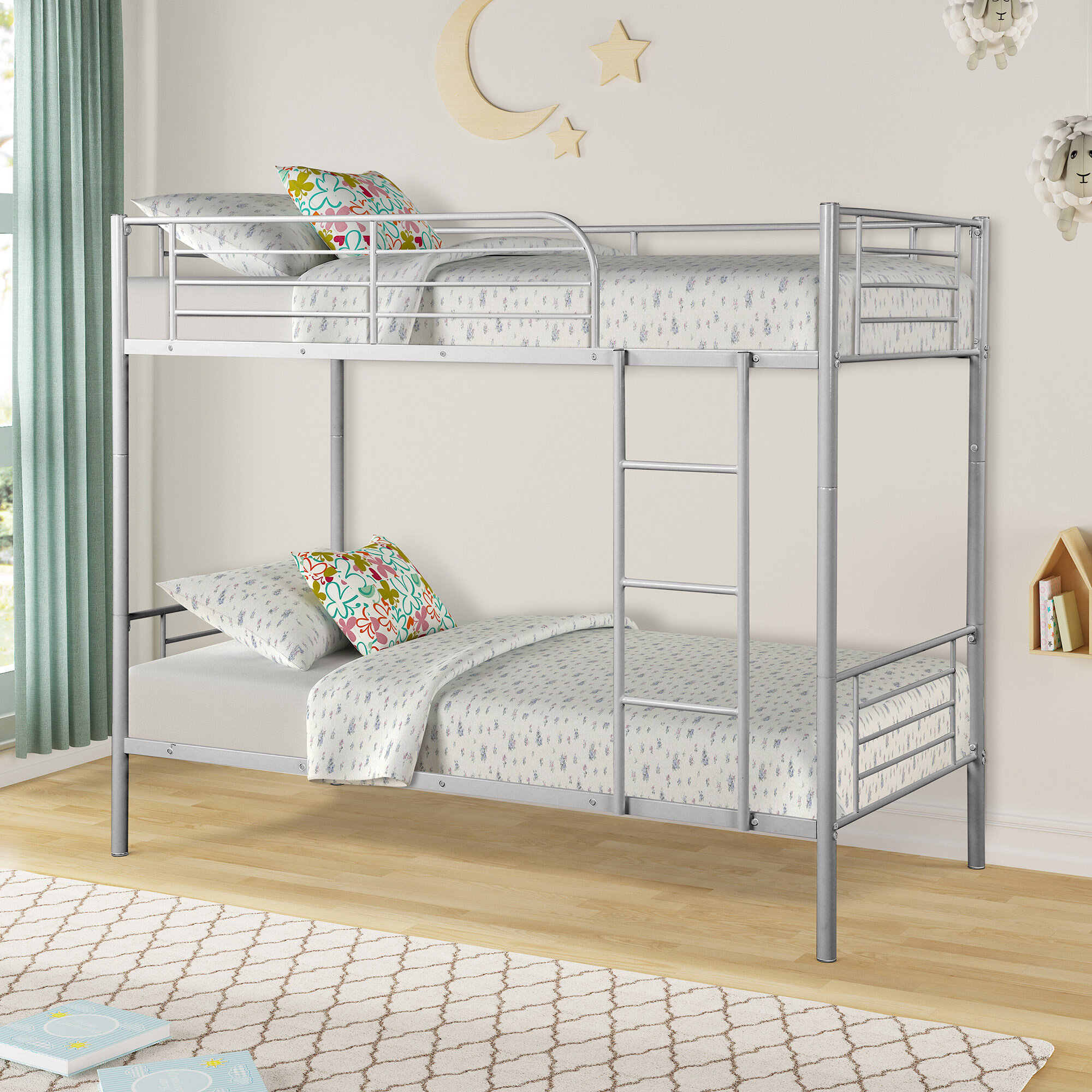 Picture of: Harriet Bee Kendall Twin Over Twin Bunk Bed Reviews Wayfair