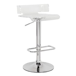 Flesher Adjustable Height Swivel Bar Stool Orren Ellis