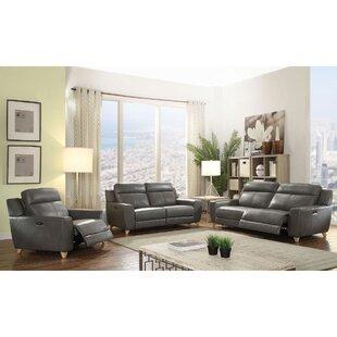 Coleen 3 Piece Leather Configurable Living Room Set by Corrigan Studio