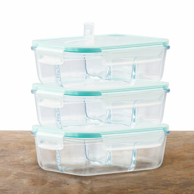 Glass Meal Prep 51 Oz. Food Storage Container