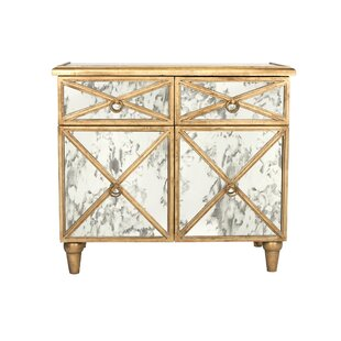 Crosshatch Accent Cabinet by Worlds Away
