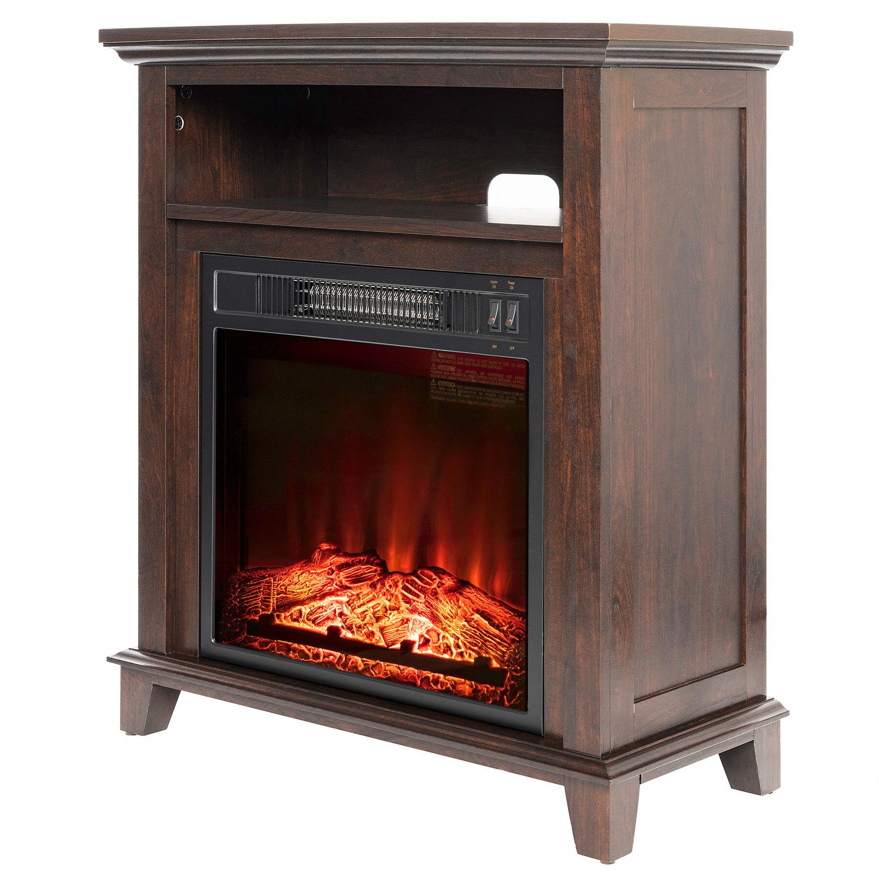 Charlton Home Gilbertson Wood Mantel Electric Fireplace Reviews