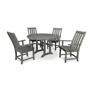 Vineyard Nautical Trestle 5 Piece Dining Set