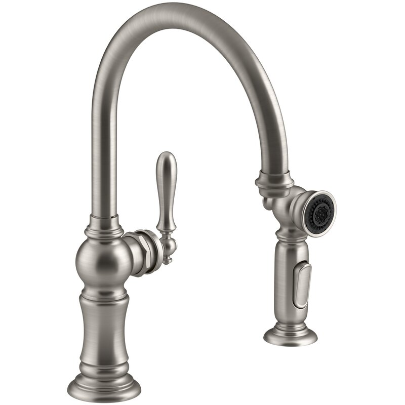 Kohler Artifacts 2 Hole Kitchen Faucet With Swing Spout And