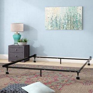 Hicklin Heavy Duty 6-Leg Adjustable Metal Bed Frame with Rug Roller