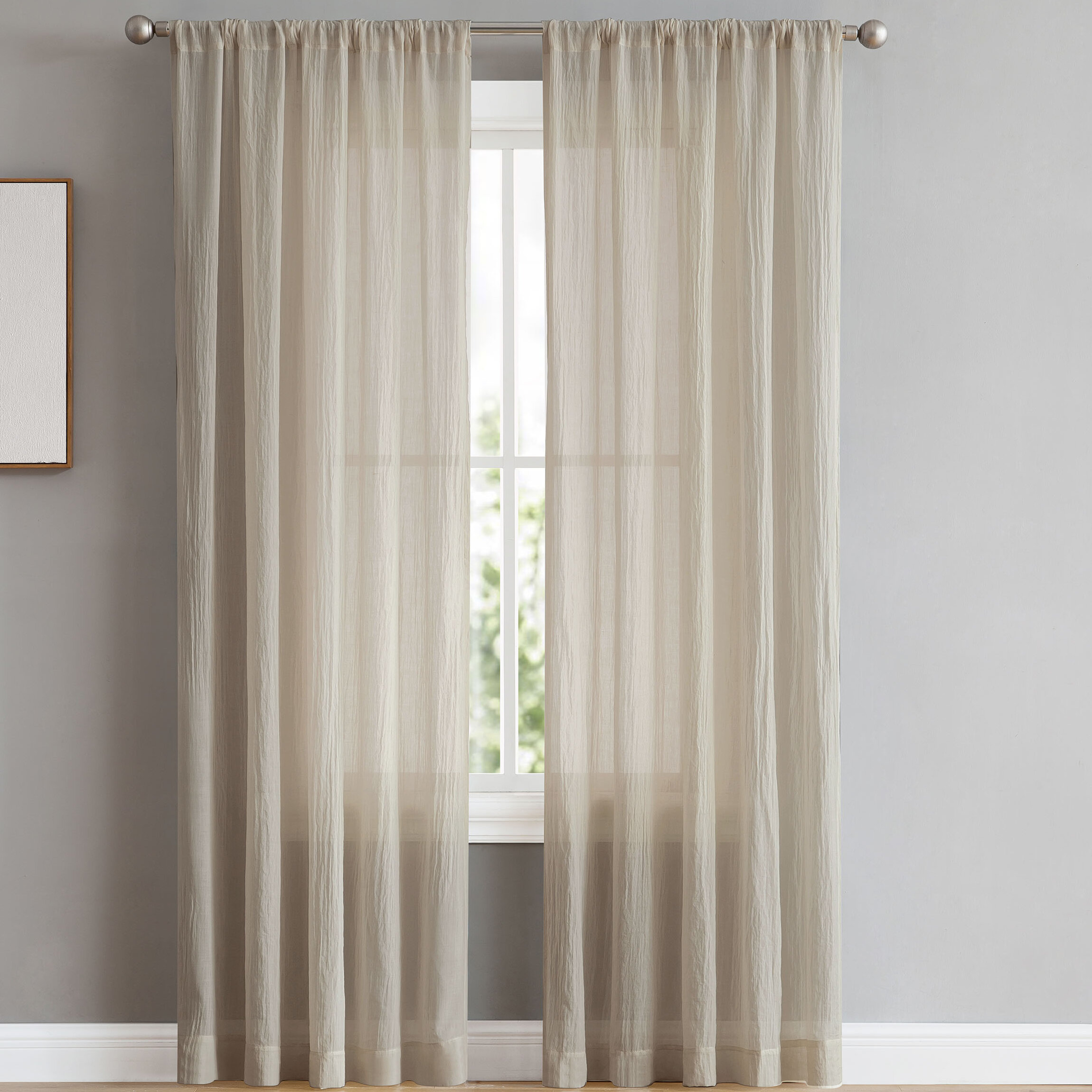 French Connection Keaton Window Solid Semi Sheer Curtain Panels Reviews Wayfair
