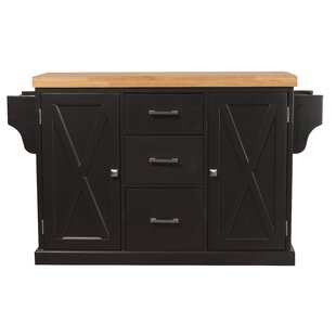 Jax Kitchen Island with Wood Top