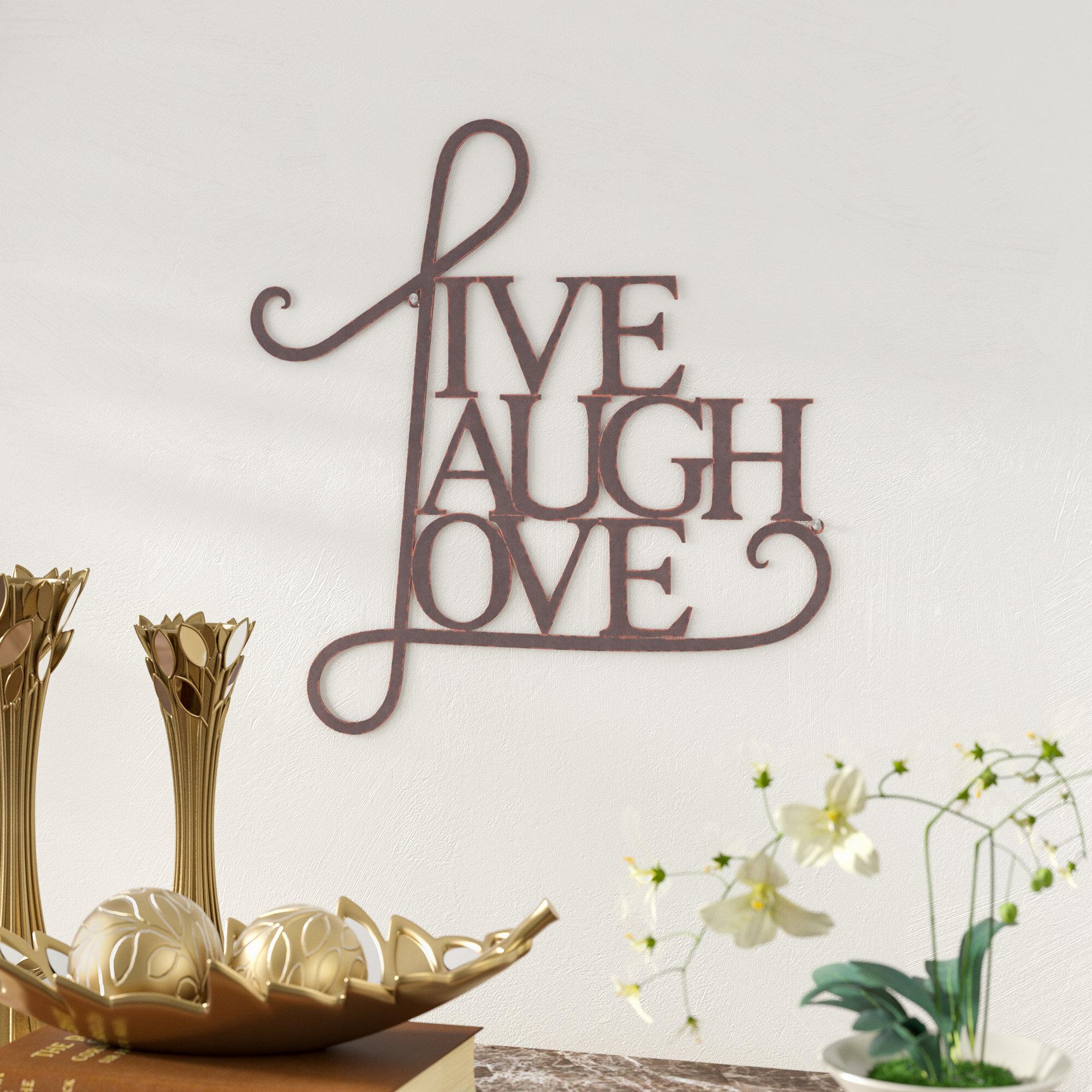 Andover Mills Live, Laugh, Love Antique Copper Wall Decor U0026 Reviews |  Wayfair