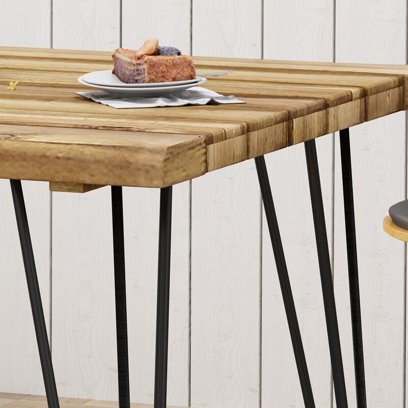 Tindley Indoor Acacia Wood Dining Table
