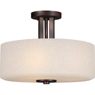 Bargain Mcleroy 3-Light Semi-Flush Mount By Ebern Designs