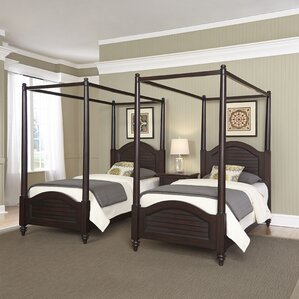 Harrison Traditional Framed Canopy 3 Piece Bedroom Set