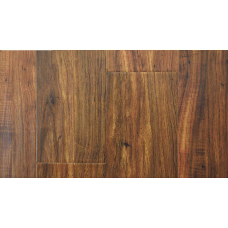 """AllAmericanHardwood Cottage 6"""" x 48"""" x 12mm Laminate Flooring  Color: Pecan"""