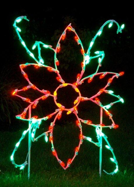 Queens Of Christmas Poinsettia Flower Led Light Christmas Decoration Wayfair