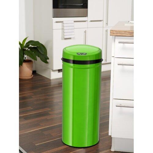 42 L Bewegungsmelder Mülleimer aus Edelstahl   Küche und Esszimmer > Küchen-Zubehör   Inox grün   Edelstahl   Echtwerk