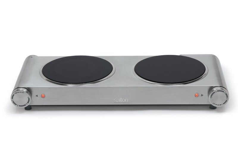 Salton Portable 21 Electric Cooktop With 2 Burners Reviews Wayfair Ca