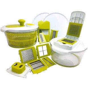 10-Piece Salad Spinning Slicer, Dicer and Chopper Set