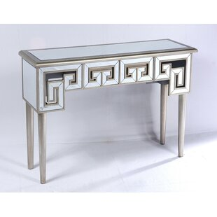 Theon Mirror and Champagne Console Table by Mercer41