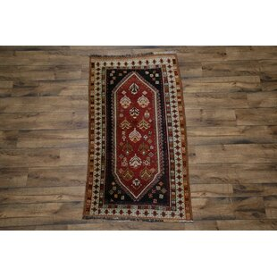 Buying One-of-a-Kind Nunn Traditional Shiraz Persian Hand-Knotted 3'4 x 6'1 Wool Black/Burgundy/Cream Area Rug By Isabelline