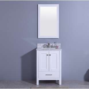 Bloomquist 25 Single Bathroom Vanity Set with Mirror by Winston Porter