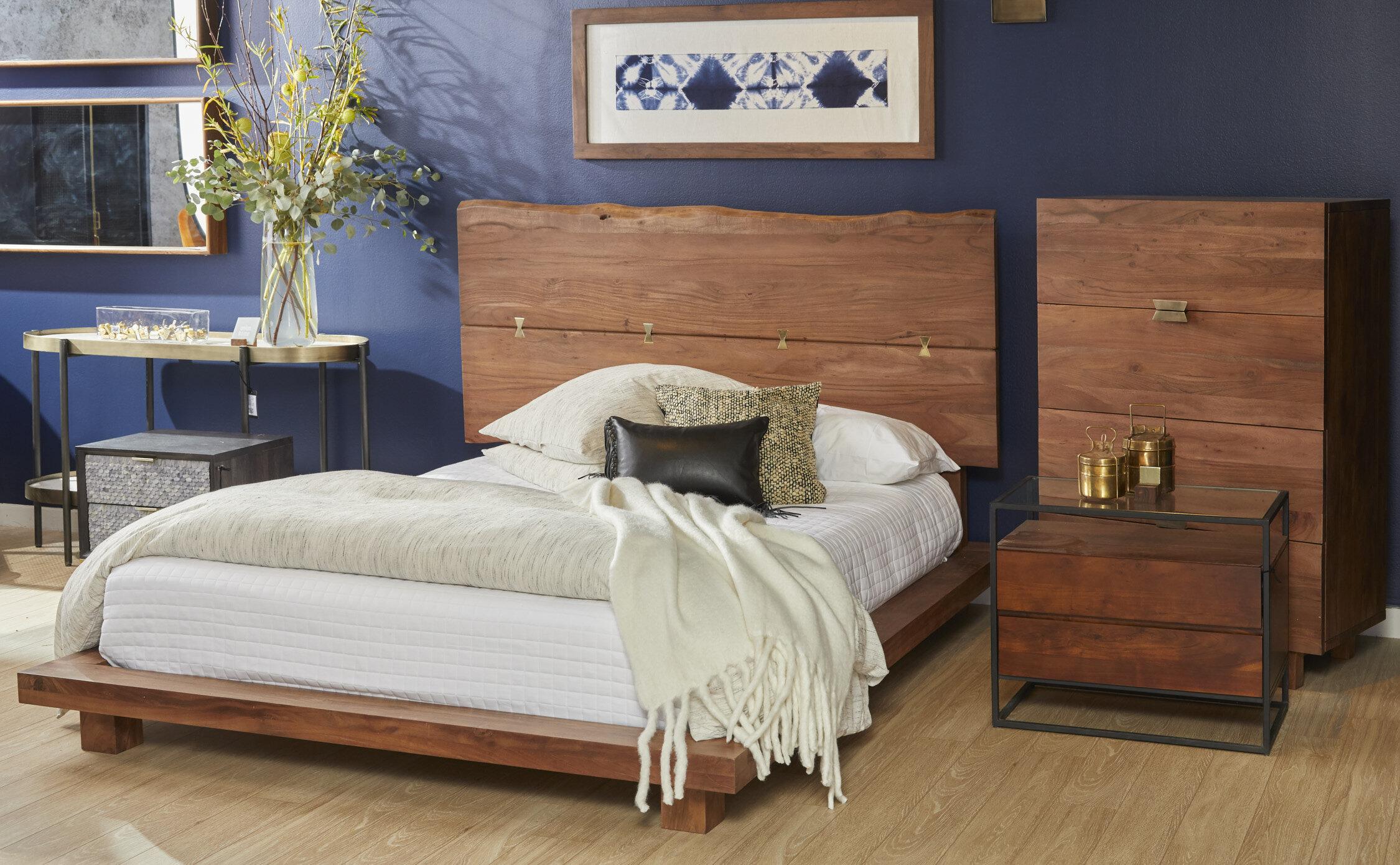 Union Rustic Sandiford Queen Platform Solid Wood Configurable Bedroom Set Wayfair