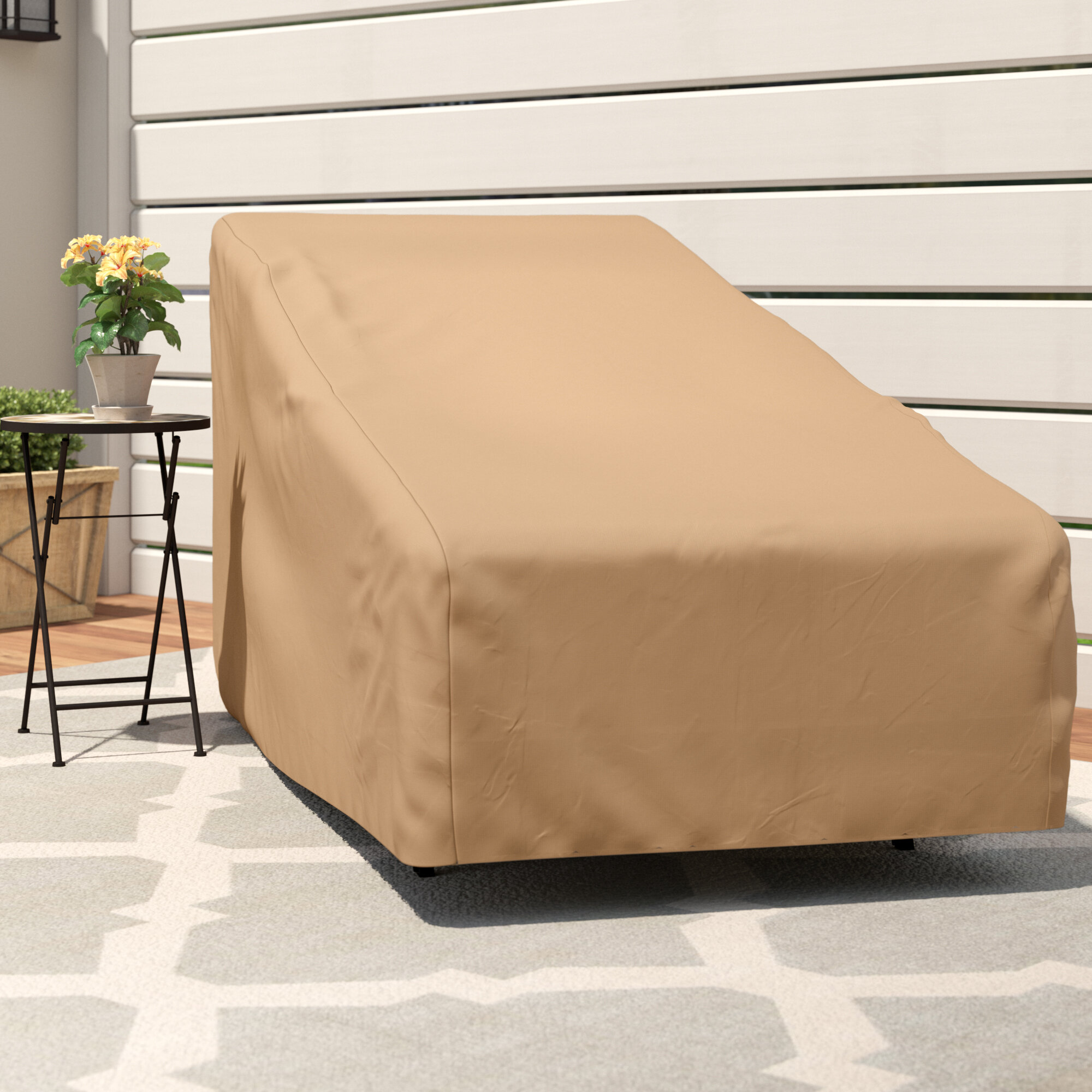 Nicholson patio chaise lounge cover reviews joss main