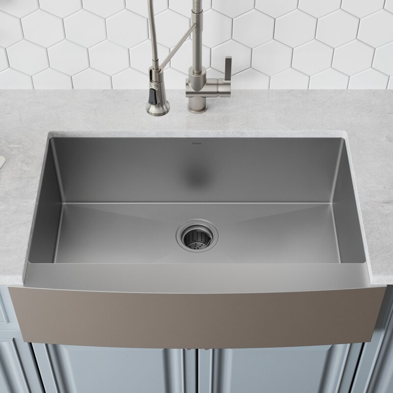 Khf200 36 L X 21 W Farmhouse Kitchen Sink With Drain Embly