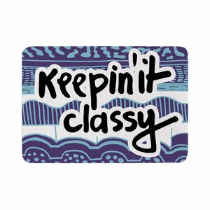 Vasare Nar Keepin It Classy Typography Memory Foam Bath Rug